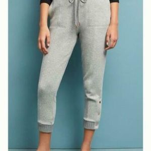 Anthropologie Terry Cropped Dylan Joggers Pants XS